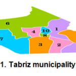 Figure 1. Tabriz municipality regions