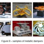 Figure 9 – samples of metallic dampers